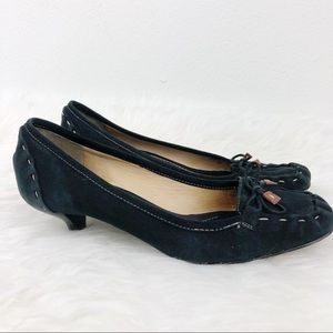 KATE SPADE Navy Blue Suede Low Heel Loafer Size 8